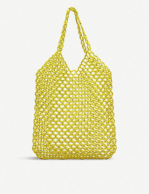CLAUDIE PIERLOT: August wood beaded bag