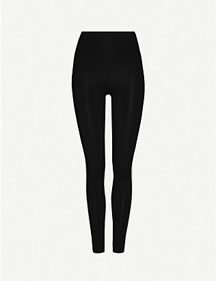 LIVE THE PROCESS: Zen striped high-rise stretch-jersey leggings