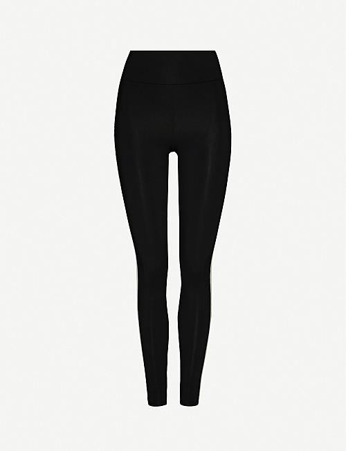 LIVE THE PROCESS Zen striped high-rise stretch-jersey leggings