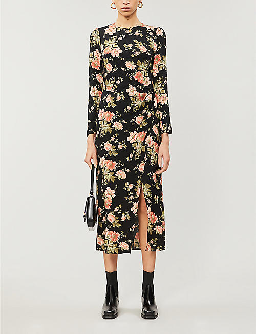 REFORMATION Celeste floral-print crepe maxi dress
