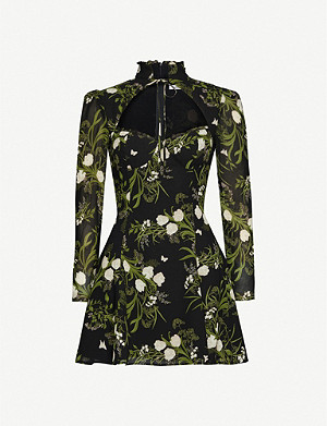REFORMATION Vivianne floral-print crepe mini dress