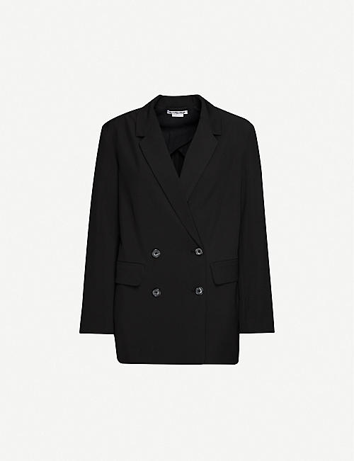 REFORMATION: Jenner double-breasted stretch-woven blazer