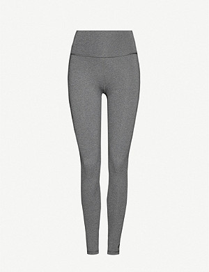 ADIDAS PERFORMANCE High-rise stretch-jersey leggings
