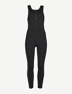 ADIDAS PERFORMANCE Full length stretch-jersey jumpsuit