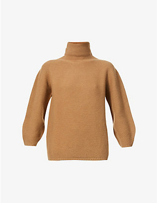 MAX MARA: Etruscio turtleneck wool and cashmere-blend jumper