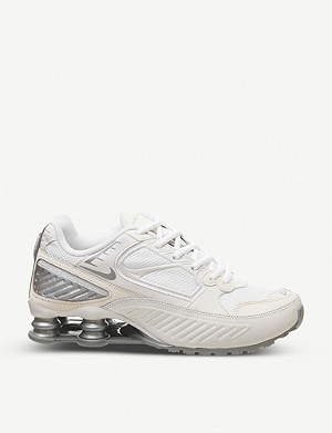 NIKE Shox Enigma 9000 leather, mesh and woven trainers