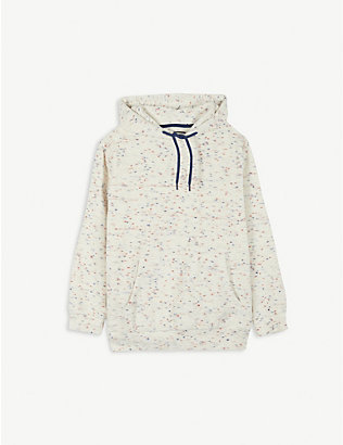 PREVU: Milas flecked towelling cotton-blend hoody 4-14 years