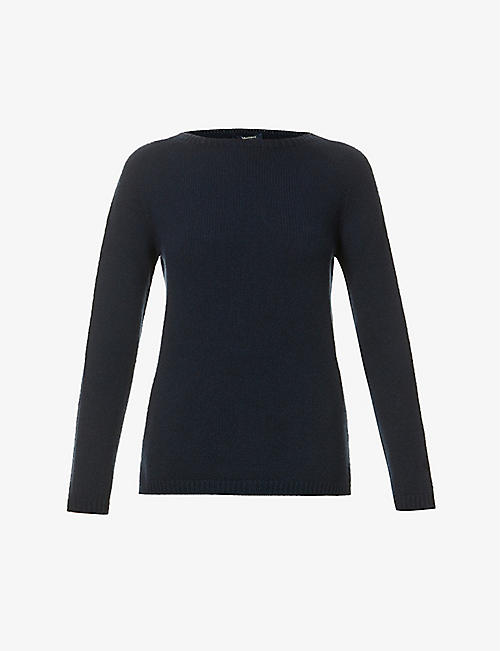 S MAX MARA: Scoop-neck cashmere jumper