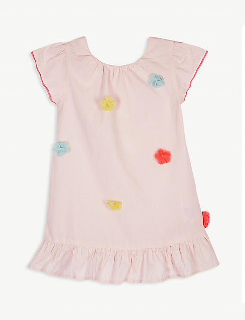 BILLIE BLUSH Flower embellished cotton dress 3-36 months