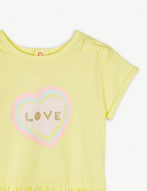 BILLIE BLUSH Love heart cotton-blend dress 3-36 months