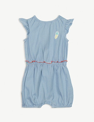 BILLIE BLUSH Cotton denim playsuit 3-18 months