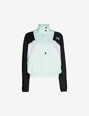 PUMA Tailored For Sport high-neck shell jacket