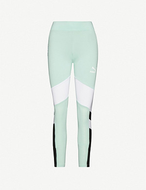 PUMA Logo-print cotton-blend jersey leggings