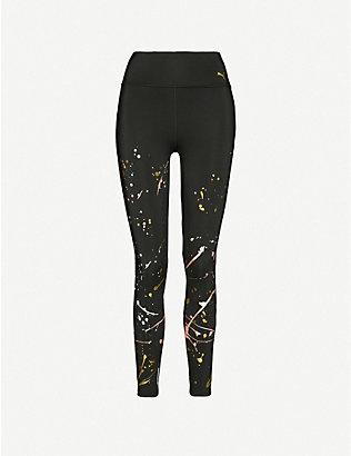 PUMA: Splatter recycled stretch leggings