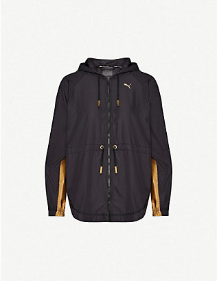 PUMA: Splash metallic panel shell jacket