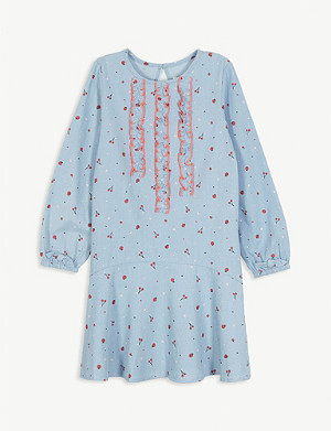 BILLIE BLUSH Cherry print cotton dress 4-12 years