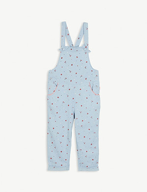 BILLIE BLUSH Fruit print cotton dungarees 4-12 years