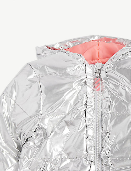 BILLIE BLUSH Metallic puffer jacket 4-12 years