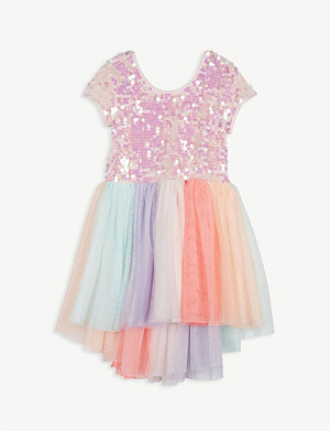 BILLIE BLUSH Sequinned tulle tutu dress 4-12 years