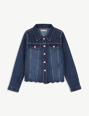 BILLIE BLUSH Mermaid sequin denim jacket 4-12 years