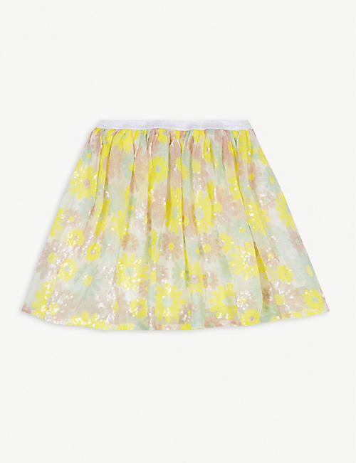 BILLIE BLUSH: Sequin flowers tulle skirt 4-12 years