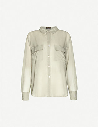 ERIKA PENA: Ana Rumba relaxed-fit cotton-voile shirt