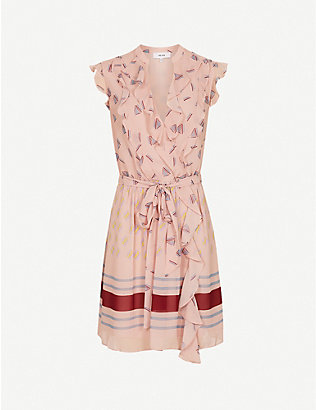 REISS: Stephanie printed crepe mini dress