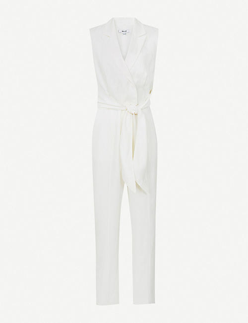 REISS: Romy tailored crepe jumpsuit