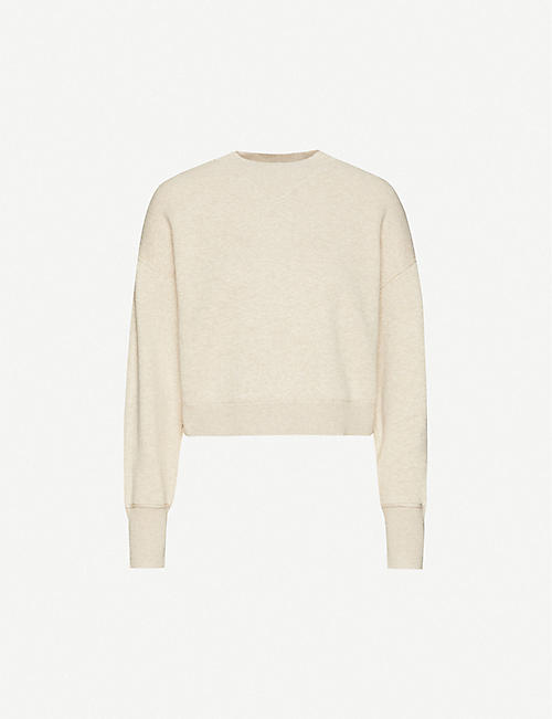 FRAME Relaxed-fit cotton and cashmere-blend jumper