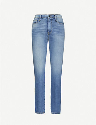 FRAME: Le Sylvie slim-fit cropped high-rise jeans