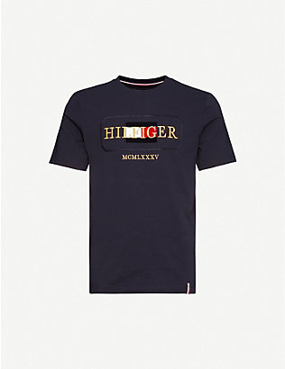 TOMMY HILFIGER: Icon logo-print cotton-jersey T-shirt