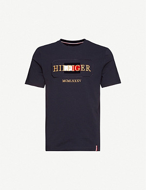 TOMMY HILFIGER Icon logo-print cotton-jersey T-shirt