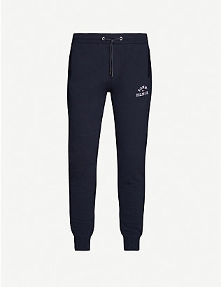 TOMMY HILFIGER: Brand-embroidered tapered cotton jogging bottoms