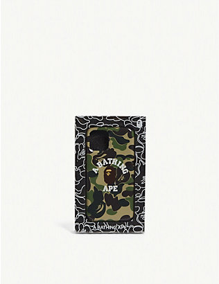 A BATHING APE: Logo camouflage-printed shell iPhone 11 Pro case