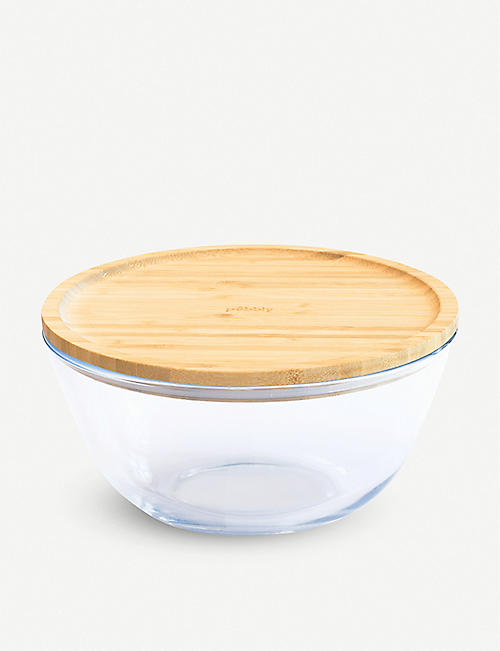 PEBBLY Mixing bowl with bamboo lid 2.6l