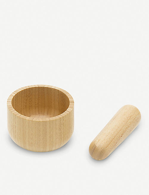 PEBBLY: Bamboo mortar and pestle set