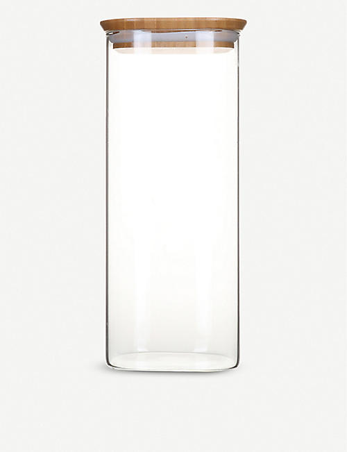 PEBBLY: Glass canister with bamboo lid 2200ml