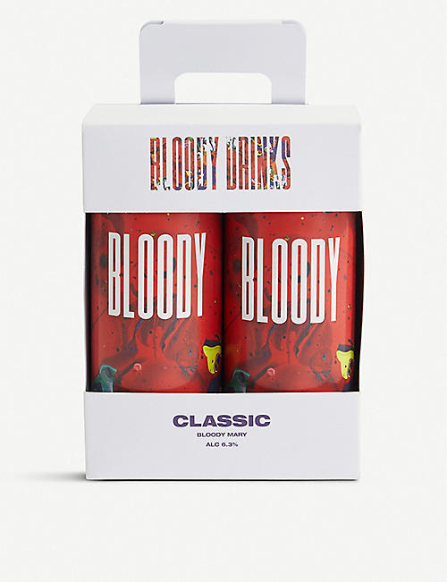 VODKA Bloody Drinks classic Bloody Mary pack of four