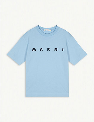 MARNI: Logo cotton T-shirt 4-14 years