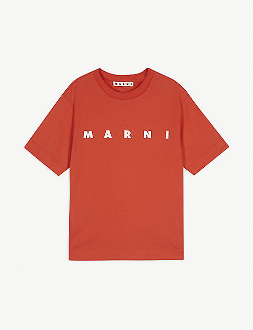 MARNI Logo cotton T-shirt 4-14 years