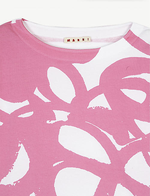 MARNI Floral print cotton T-shirt 4-14 years