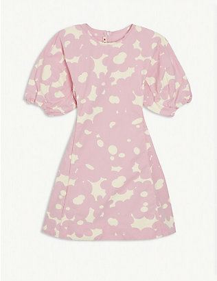 MARNI: Floral-printed cotton poplin dress 4-14 years