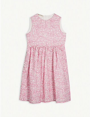 MARNI: Floral cotton dress 4-14 years