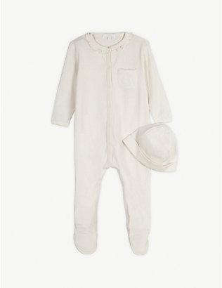 CHLOE: Cotton babygrow and hat set 1-9 months