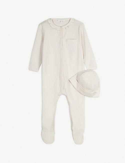 CHLOE Cotton babygrow and hat set 1-9 months