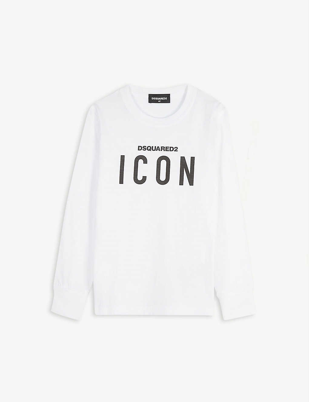 DSQUARED2: Icon logo cotton T-shirt 4-16 years