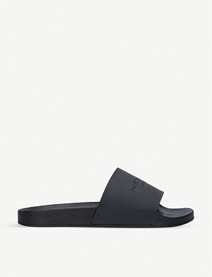 KURT GEIGER LONDON Lewis rubber sliders