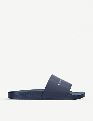 KURT GEIGER LONDON Lewis logo-print rubber pool sliders