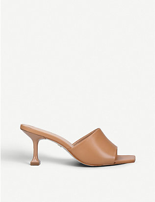CARVELA: Grow square-toe leather mules