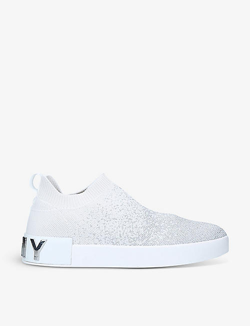 DKNY: Sadya low-top knitted sock trainers